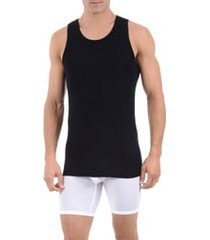men's tommy john second skin tank undershirt, size xx-large - black