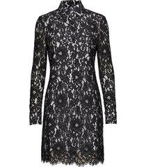 lace dress ls korte jurk blauw calvin klein