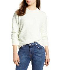women's lucky brand teddy crewneck sweater, size small - green