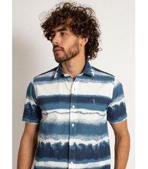 camisa aleatory manga curta wave masculino