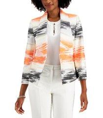 kasper petite graphic print jacquard jacket