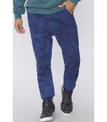 jeans jogger azul acido lavado corona