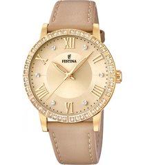 reloj boyfriend collection beige festina