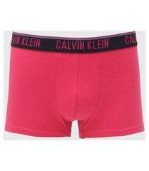 cueca calvin klein underwear boxer lettering pink