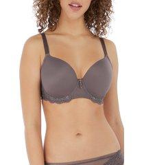 women's freya expressions underwire plunge bra, size 36e - grey