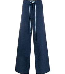 lanvin tie waist wide-leg jeans - blue