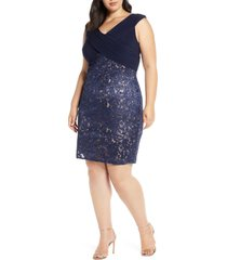 plus size women's alex evenings sequin lace cocktail dress
