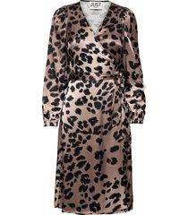 laguna wrap dress dresses wrap dresses svart just female