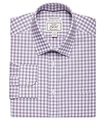 1905 collection extreme slim fit spread collar check dress shirt - big & tall clearance, by jos. a. bank