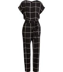 women's halogen short sleeve jumpsuit, size 4 - black