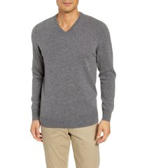 men's paige willard v-neck wool & cashmere sweater, size small - grey