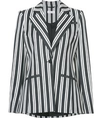 acagia belted striped blazer