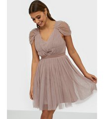 anaya contrast tulle mini dress skater dresses