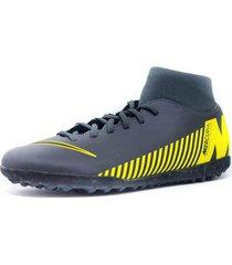 zapato nike superfly 6 club tf gris-amarillo ah7372-070
