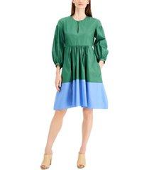 weekend max mara sala cotton colorblocked dress