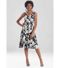 natori aiko printed cdc knotted tank dress, women's, size 14