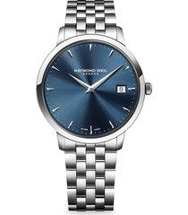 raymond weil men's mens toccato stainless steel bracelet watch