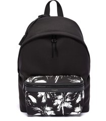 'city' palm print backpack