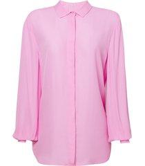 camisa le lis blanc básica lou lou rosa feminina (lotus, 50)