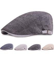 uomo vintage casual berretto in cotone regolabile con visiera protettiva da sola newsboy hat