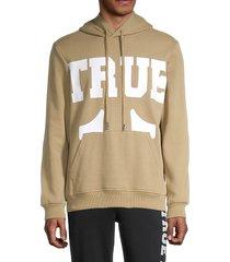 true religion men's large logo hoodie - beige - size xl