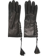 manokhi short tassel gloves - black