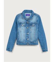 chaqueta clásica denim para mujer freedom 01880