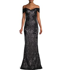sequin & lace gown