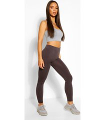 supersoft fleece lined seamless leggings, grey