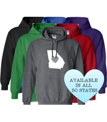 georgia hoodie sweatshirt love home heart unisex men women state