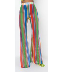 akira color me up wide mesh palazzo pants