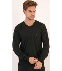 suéter yachtsman liso preto