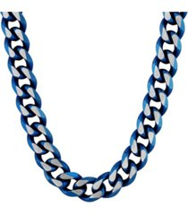 macy's men's beveled curb link chain necklace