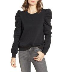 women's rebecca minkoff janine sweatshirt, size small - black