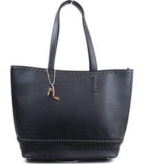 bolsa emporio naka shopping bag tresse preta