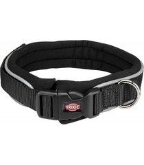trixie collar premium perros neopreno negro talla l - xl
