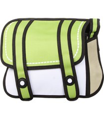 morral chico solapa 2 tiras midosuji verde claro-blanco fight for your right