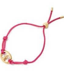 kate spade new york gold-tone heart corded bolo bracelet