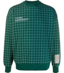 a-cold-wall* grid print crewneck sweatshirt - green