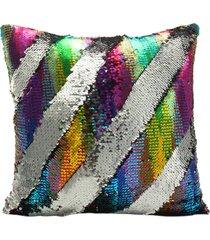 fashion sequin magic mermaid throw pillow cover swipe divano cushion case decor