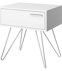 mesa de cabeceira 1 gaveta 881 branco mã³veis carraro - dafiti