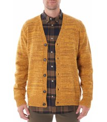 norse projects adam cardigan neps - yellow n45-0443