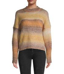 long-sleeve rib-knit sweater