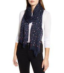 women's longchamp le pliage club modal & silk scarf, size one size - blue
