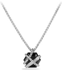 david yurman cable wrap pendant necklace with diamonds, size 17 in in black onyx at nordstrom