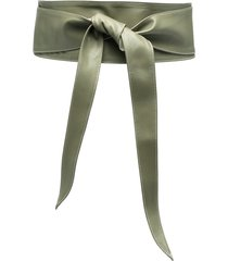 federica tosi leather wrap belt - green