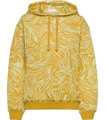 adrisa, 1093 tracksuit zebra hoodie trui geel stine goya