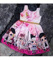vestido lol patatitas i16 rosa
