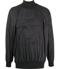 acne studios nylon high neck sweater - black