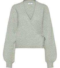 ensoya ls v-n knit 5231 gebreide trui cardigan grijs envii